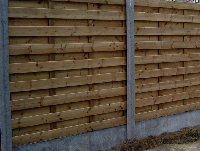 houten tuinscherm economy type 1